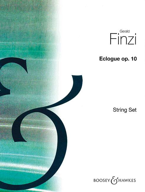 10 Finzi Gerald 4.4.3.3.3 set of string parts piano and string orc Eclogue op
